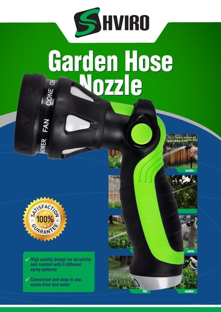 Shviro garden hose nozzle superior construction lawn for Garden hose solutions