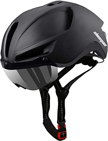 bici da strada BMX PHZING Casco da bicicletta con visiera rimovibile per bicicletta certificato CE regolabile per adulti