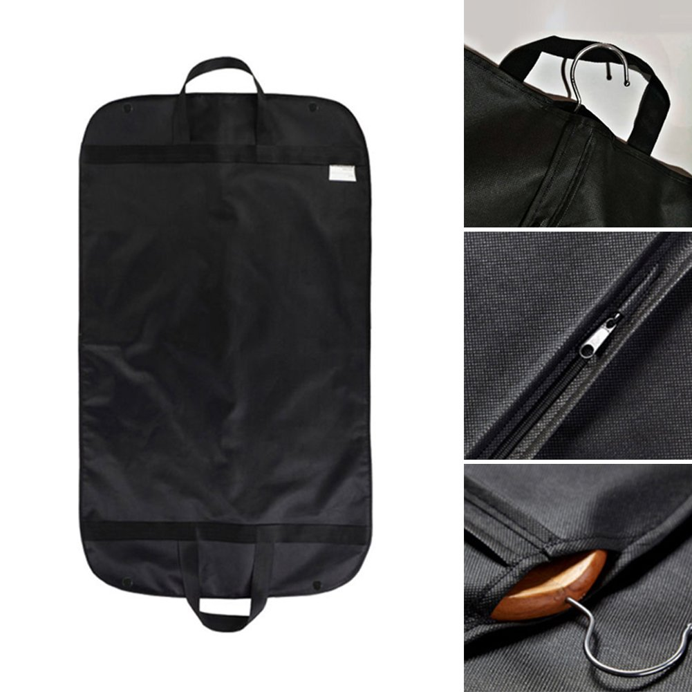 Breathable Travel Garment Bag,Portable Waterproof Suit Covers Carrier Bag Hanging Cloth Cover with Handle 60x100cm(60x100cm,Black) by INLAR (Image #4)