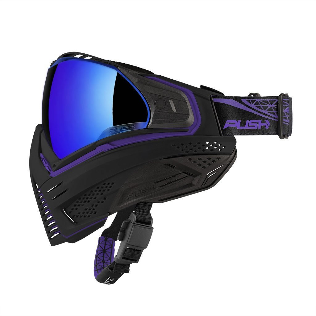 Push Unite Paintball Mask w/ Revo Lens Black / Purple by Push Paintball