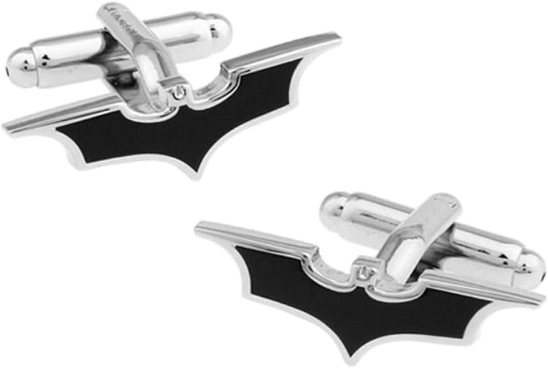 BadmenHome Super Hero Collection Black Batman Mark Cufflinks Men's Cufflinks for Groom Wedding Dress