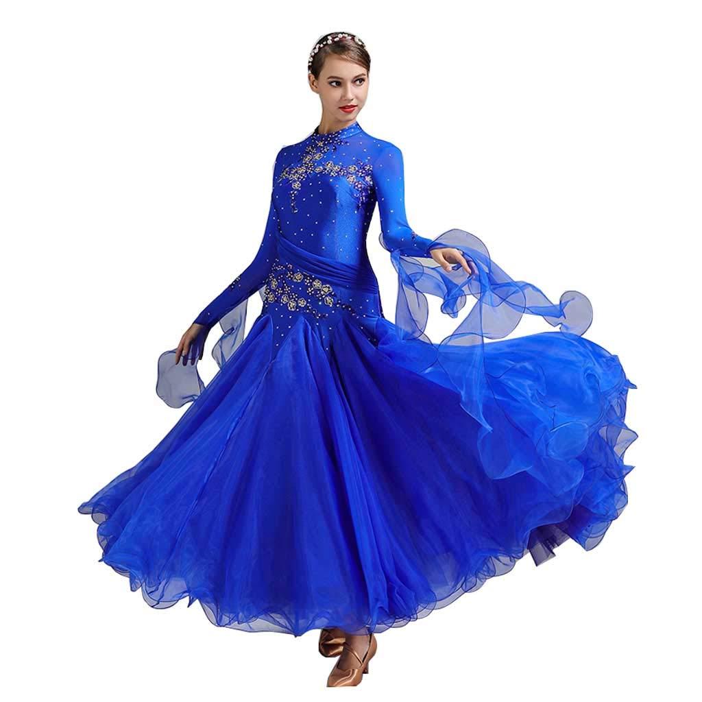 最も優遇 大広間ダンスドレスドレスコスチューム Royal、アダルトレディースモダンダンススカート B07HMVDP43 S s|Royal Blue S Royal Blue Blue S s, アミュード:5f3912e6 --- a0267596.xsph.ru