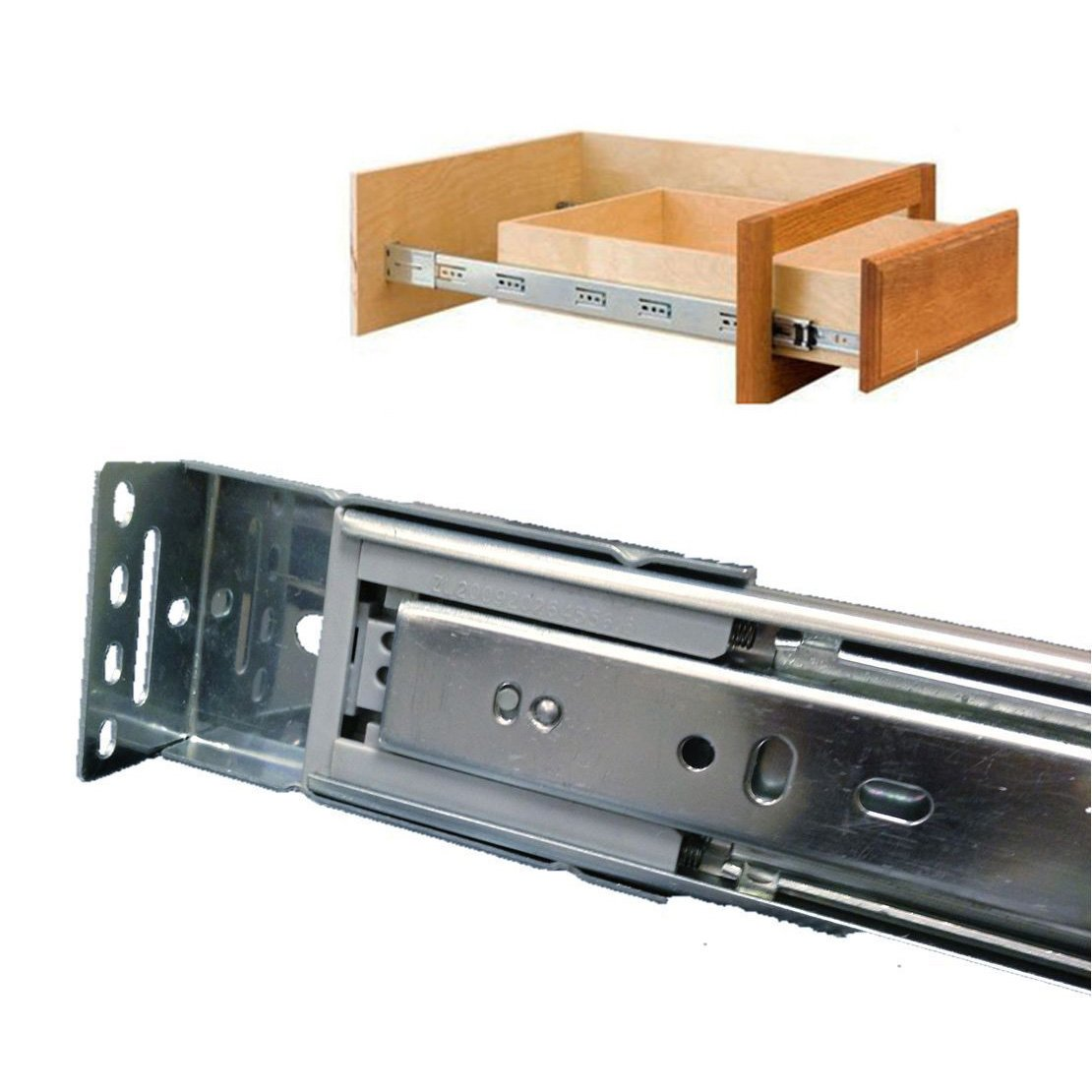 Probrico Brackets Included Soft Close 18-inch Full-Ext Drawer Slide 100-Pound Capacity Rear Mount,10 Pairs Sets by Probrico (Image #6)