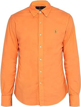 Ralph Lauren Camisa de manga larga para hombre. naranja M ...
