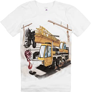 product image for Shirts That Go Little Boys' Construction Cranes & Truck T-Shirt