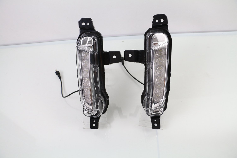 D-Field(Dフィールド) 電装 増設 デイライト LED フォグランプ ウインカー連動 スズキ エスクード 2015-2016 適用 DRL 左右セット B073XLX2YH  ホワイト+アンバー