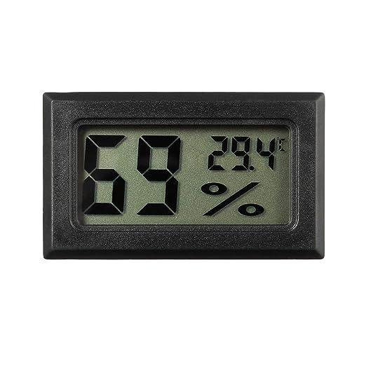 Profesional Mini Digital LCD Term/ómetro Higr/ómetro Humedad Medidor de temperatura Interior Pantalla LCD Digital Sensor Color:black