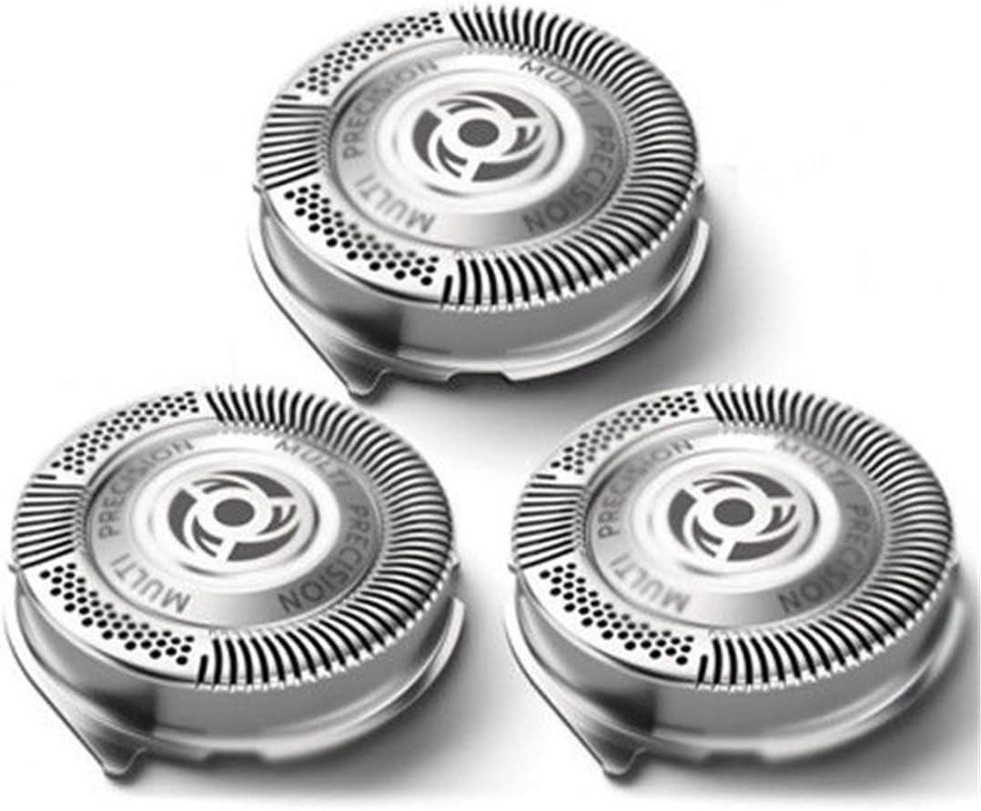 3Pcs / Set Cabezales de afeitado Cabezales de repuesto Cuchillas de afeitar de afeitar múltiples Precisión para Philips Norelco Serie 5000 - Plateado