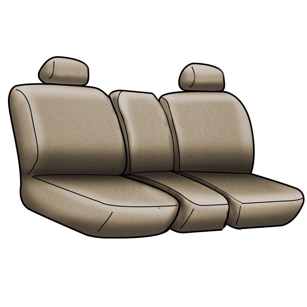CSC2A5CH9500 Neosupreme 2-Tone Tan with Black Sides Coverking Custom Fit Front 40//20//40 Seat Cover for Select Chevrolet Silverado 1500//2500 Models