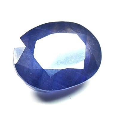 05edf17ebceb0 Amazon.com: CaratYogi Natural Blue Sapphire gemstone 7.25 CT Genuine ...