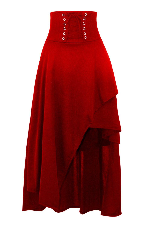 d39549c2f4 KILLREAL Women's High Waist Victorian Steampunk Gothic Hi Low Skirt:  Amazon.com.au: Fashion