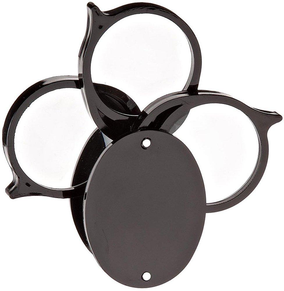 Donegan V341-T Triple Folding Pocket Magnifier, 5X, 10X, and 15X Magnification, 1-1/4'' Lens diameter