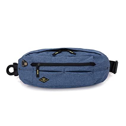 Men Boy Durable Nylon Sling Chest Phone Bag Fanny Pack Sports Waist Bag Travel