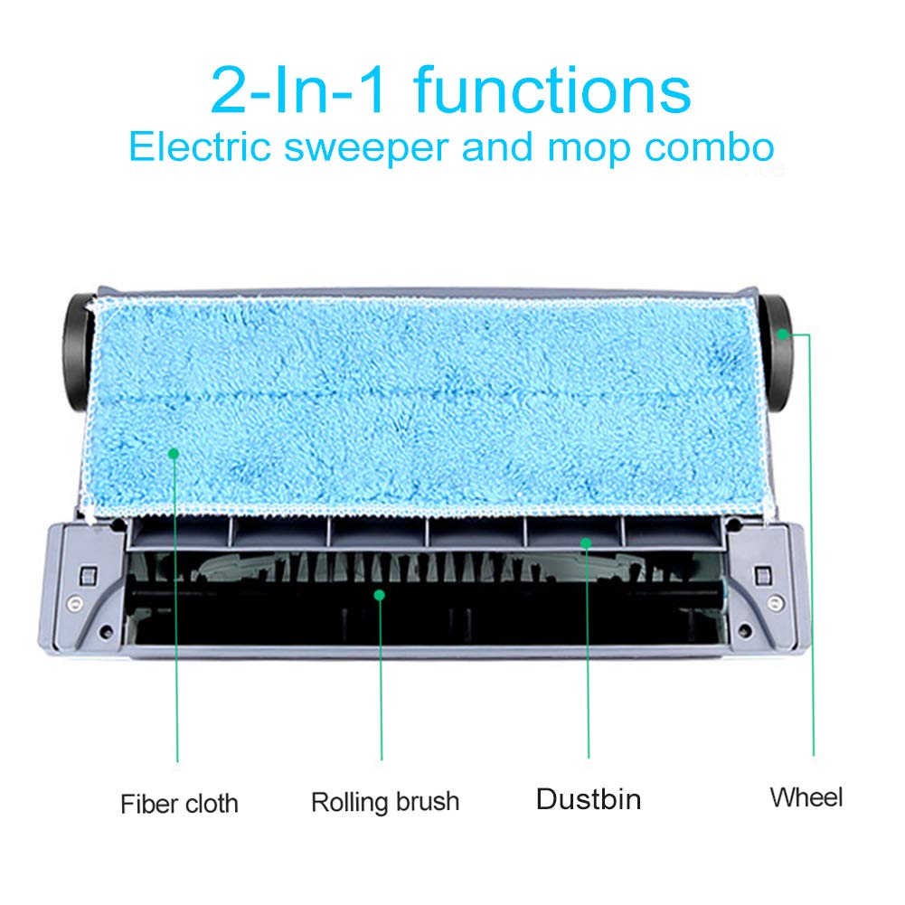 Electric Floor Cleaner Mop Cordless Stick Vacuum for Floor Cleaning Rechargeable Electric Sweeper Mop Combo Household Cleaning Supply for Indoor Any Surfaces by Woolala (Image #3)
