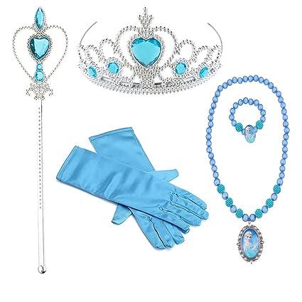 Hpwai Princess Little Girls Kids Elsa Party Favors Dress up Accessories Gloves Tiara  sc 1 st  Amazon.com & Amazon.com: Hpwai Princess Little Girls Kids Elsa Party Favors Dress ...