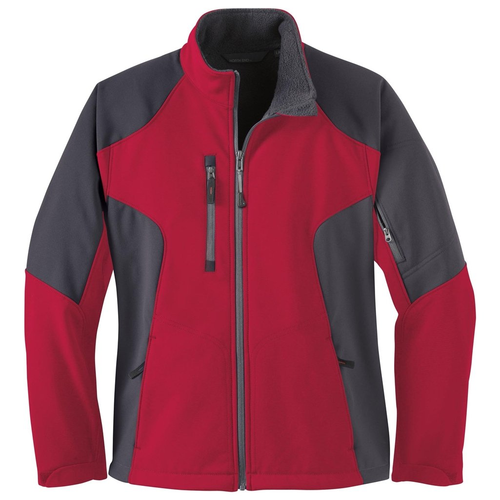 専門ショップ Ash City Ladiesコンパスソフトシェルジャケット Gray Ash Small Molten Red/Fossil Red/Fossil Gray B00GBJACNO, ハマガレ:454e581b --- arianechie.dominiotemporario.com
