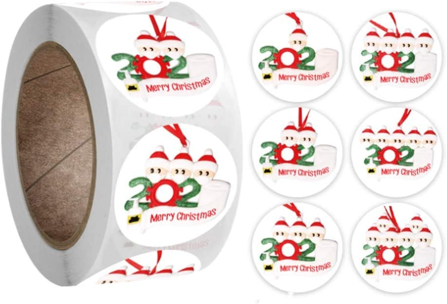 500pcs Merry Christmas Stickers Envelope Gift Thank You Cards Package Seal Label