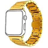 [バンドマックス]Bandmax Apple Watch バンド 42mm リンクブレスレット 両開きバックル アップルウオッチ バンド 交換専用 分解可能 ゴールド[APB2281]