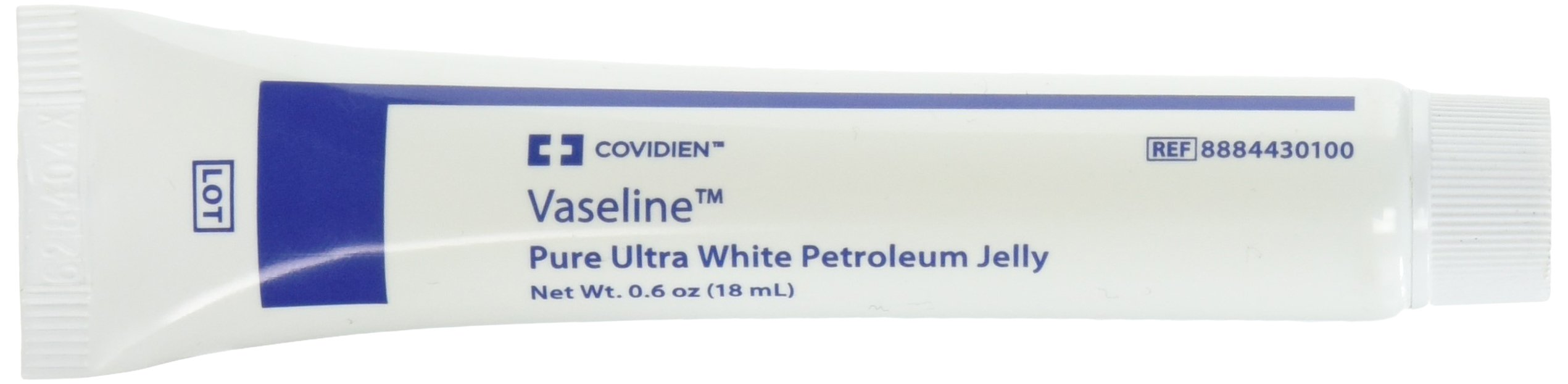 Covidien 8884430100 Vaseline Pure Ultra White Petroleum Jelly, 18 mL Capacity (Pack of 144) by COVIDIEN (Image #1)