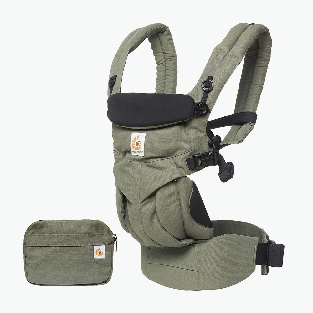 Ergobaby Baby Carrier for Newborn up to 3 Years, 360 Cool Air Khaki Green, 4 Ergonomic Carry Positions Front Back Front Facing, Backpack Carrier BCS360PGREEN