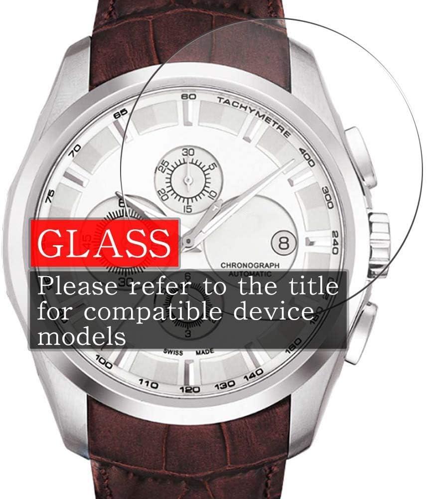 VacFun 3 Piezas Vidrio Templado Protector de Pantalla para Bvlgari DG37WSCVDCH/8, 9H Cristal Screen Protector Sin Burbujas, Alta Definición Película Protectora Reloj Inteligente Smartwatch Pulsera