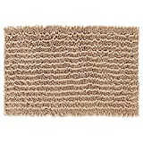 Yimobra Original Luxury Shaggy Bath Mat Large Size 31.5 X 19.8 Inch Super Absorbent Water,Non-Slip,Machine-Washable,Soft and Cozy,Thick Modern for Bathroom,Bedroom,Floor,Beige
