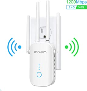 WiFi Range Extender | Up to 1200Mbps | WiFi Extender, Repeater, WiFi Signal Booster, Access Point | External Antennas Internet Booster