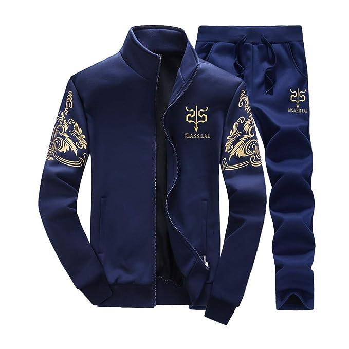8cb6efd8cc SOLELING Tuta da Uomo Felpa Autunno Inverno Caldo Vello Foderato Felpe con  Cappuccio Cotone Cappotti Morbido Giacche Outwear Tops Tute Sportive Casual  ...