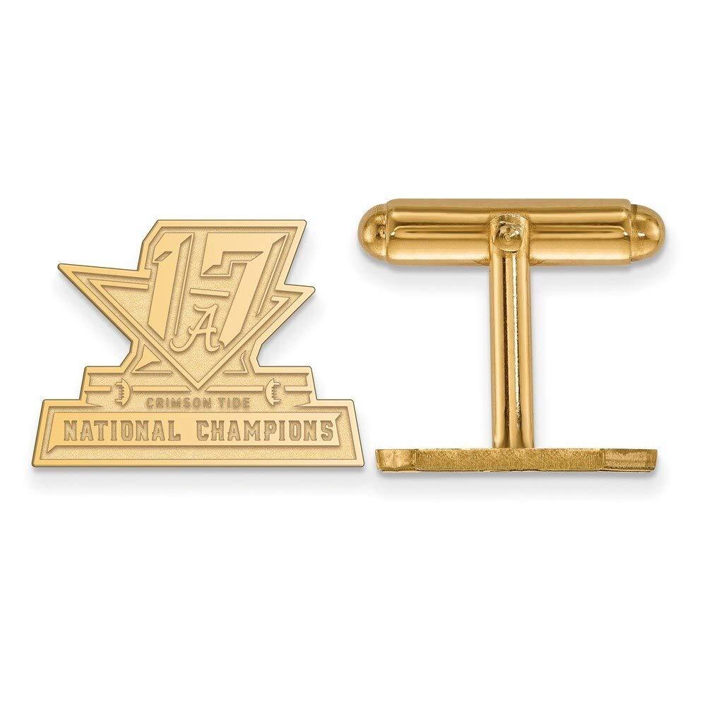 Lex /& Lu LogoArt Gold Plated Sterling Silver LA University of Alabama 2018 College Football National Champions Cuff L Gold Plated Sterling Sil