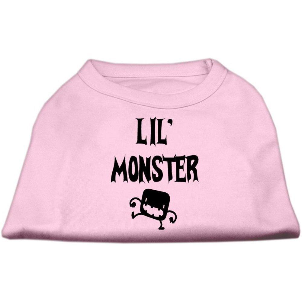 Dog   Cat   Pet Charms Lil Monster Screen Print Shirts Pink XXXL (20)