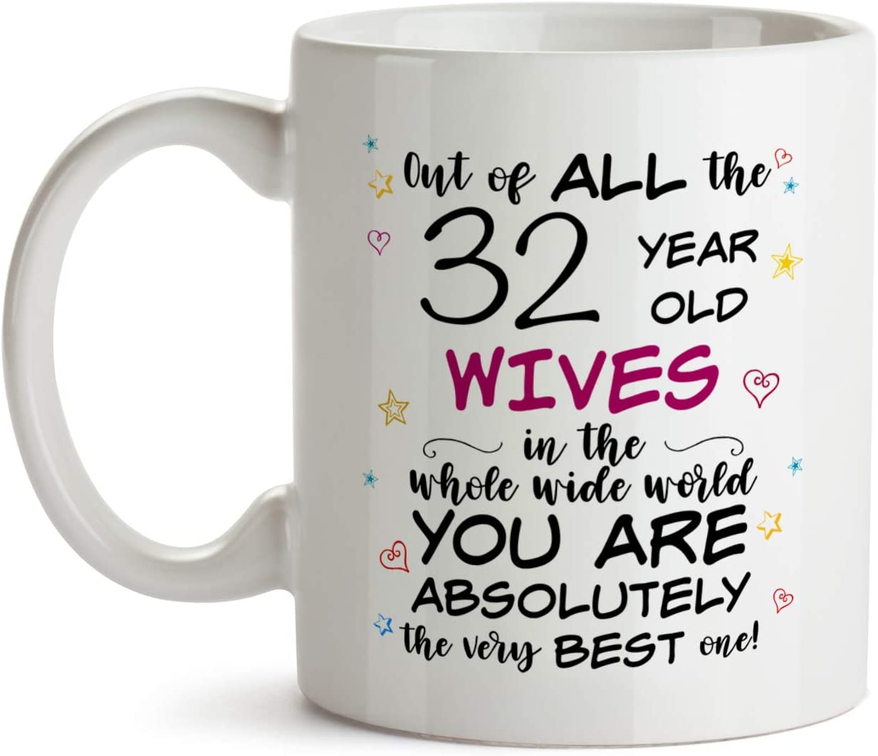 32nd Birthday Tumbler Travel Mug Coffee Cup 32 Thirty Two Second 1989 Funny Gift For Women Men Her Him Husband Wife Sister Present F-25F
