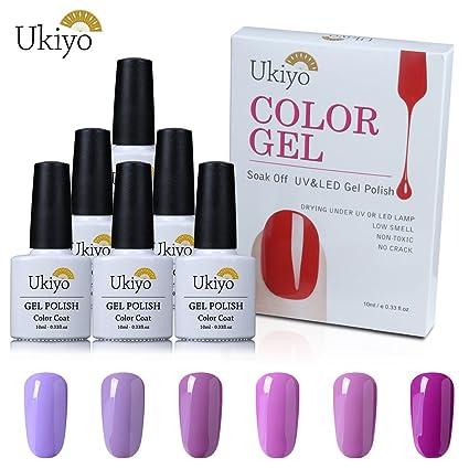 Gel de uñas led UV Soak Off Gel Polish Nail Art – morado de barniz de