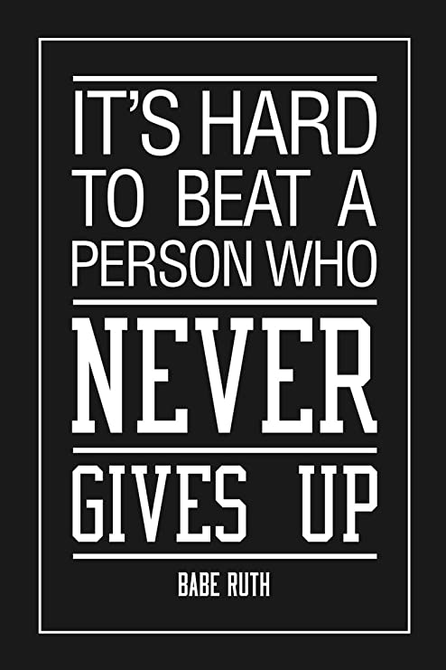 Youth Baseball LEARN FROM VICTORY AND DEFEAT Motivational Poster Print