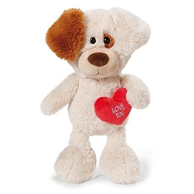 NICI - Love Perrito con corazón, Peluche, 35 cm (40189.0): Juguetes y juegos