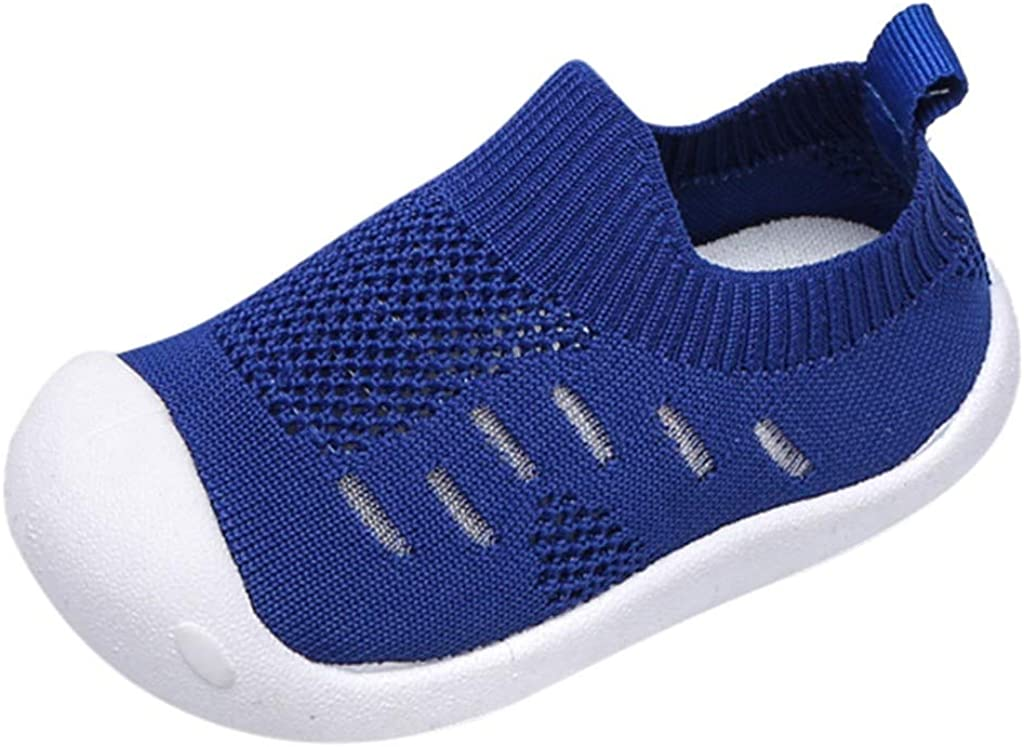 LNGRY Baby Shoes,Toddler Infant Kids Girls Boys Candy Color Knitted Breathable Sport Running Casual Loafers Shoes