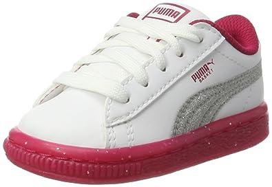 PUMA Unisex Kids' Basket Iced Glitter 2 Inf Trainers