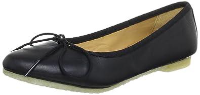 Couture Bloom, Damen Ballerinas, Schwarz (Black Leather), 42 EU (8 Damen UK) Clarks