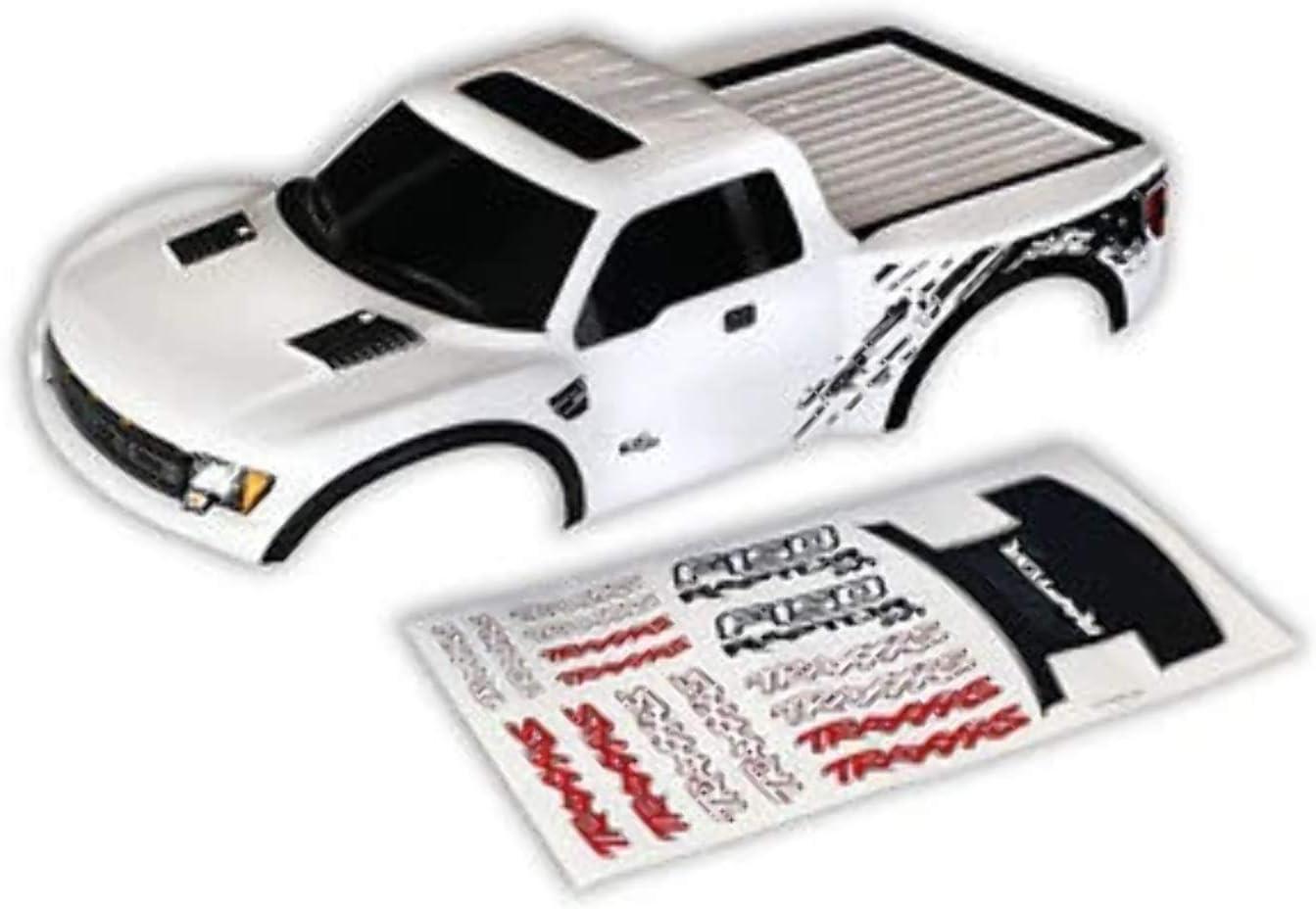 Carrocería blanca pintada y Decoree Ford Raptor