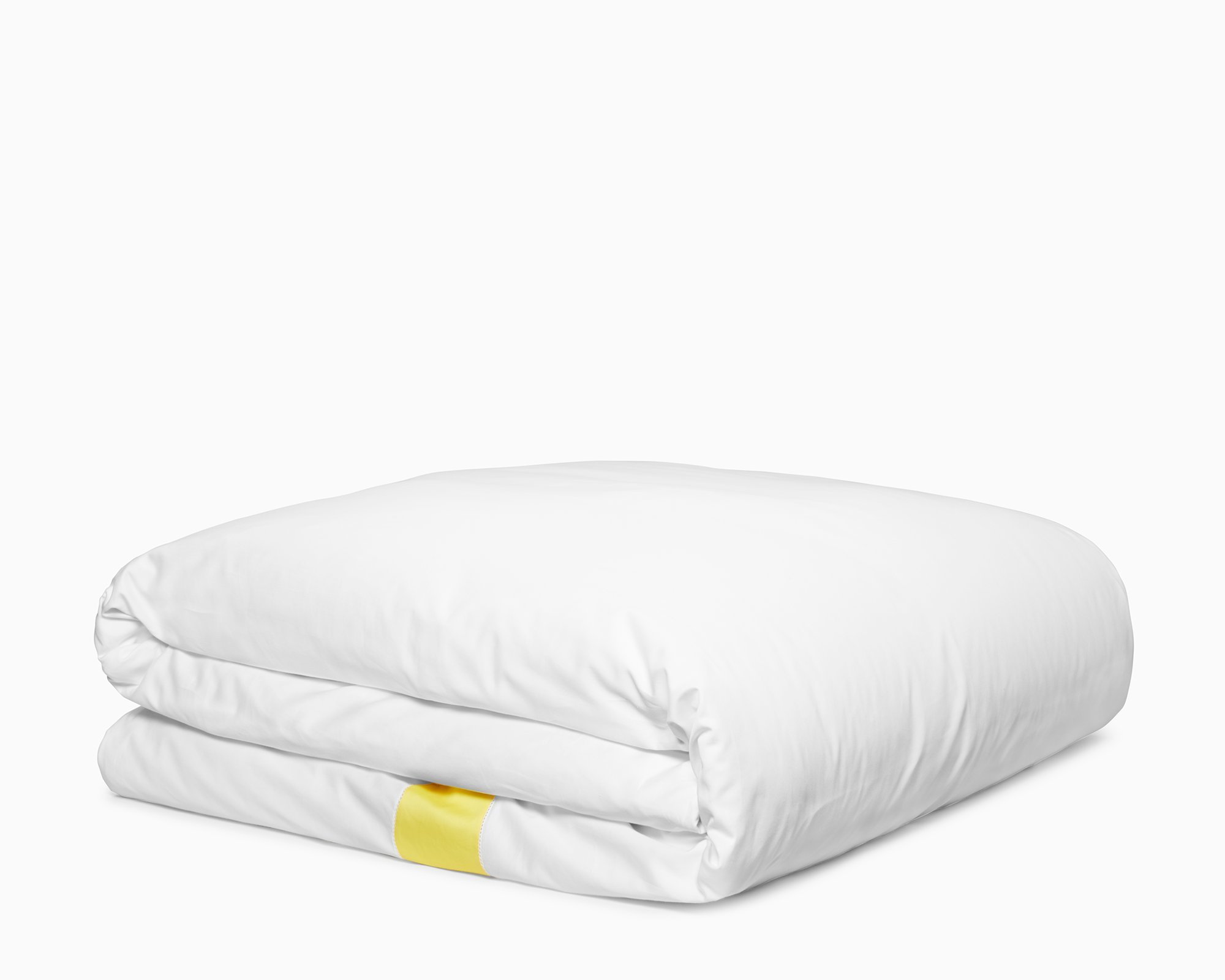 Calvin Klein Home Joan, Queen Duvet Set, White/Yellow by Calvin Klein