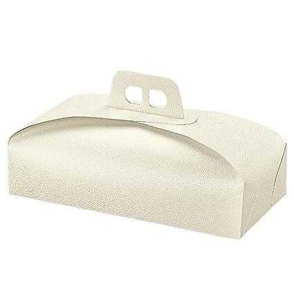Cajas Tartas Rectangulares 38X18X7 Cm Blanco Cartón - pack de 100 un.