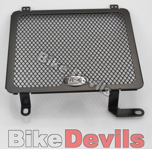 R/&G RACING BLACK RADIATOR COVER FITS HONDA CBR125R 2011-2012