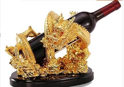 Long Feng shui adornos estante de vino, botella de vino en rack ...