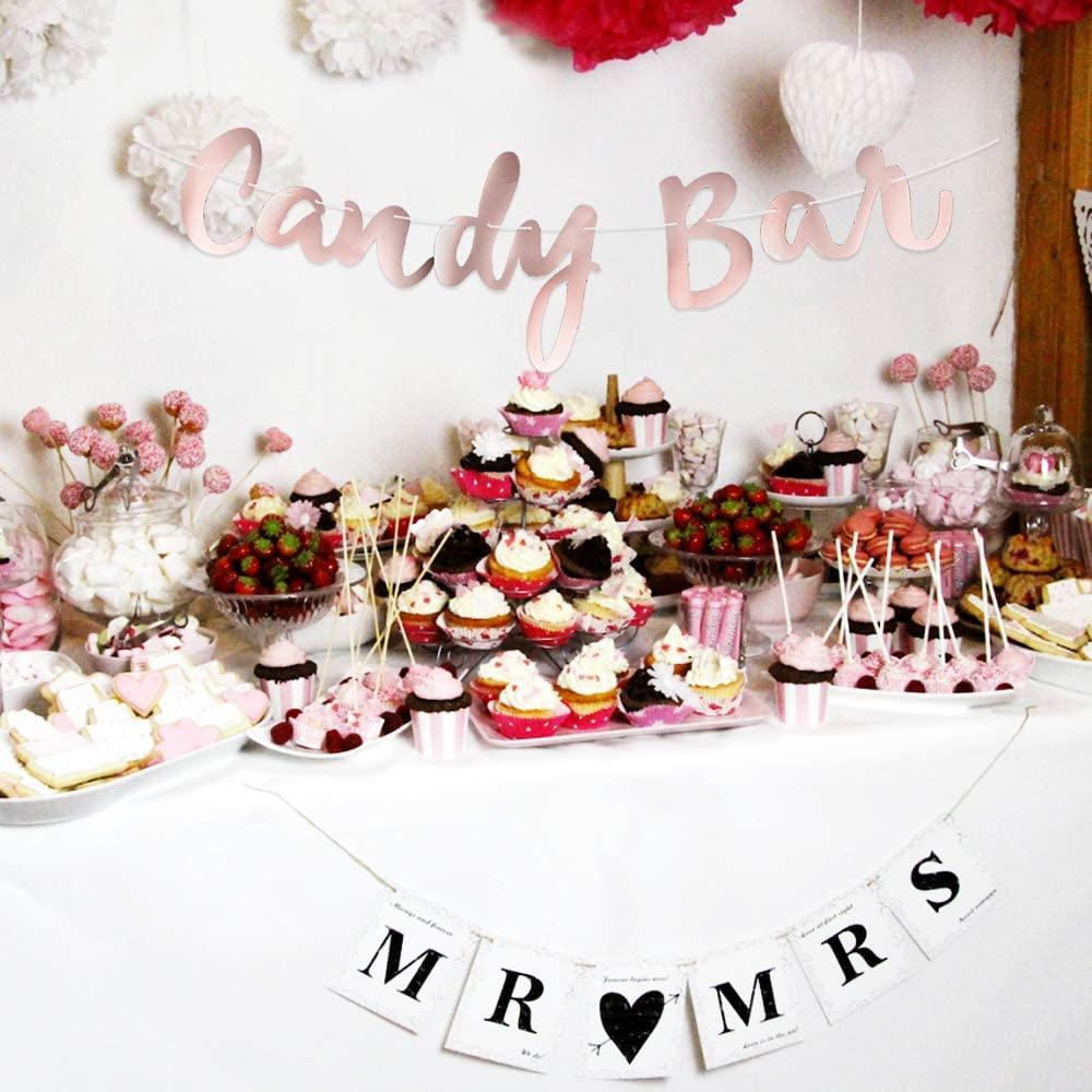Guirnalda Banner Candy Bar Banderines Papel Decoración Fiesta Boda ...