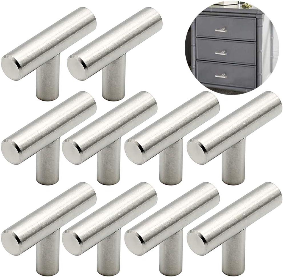 poign/ées-barres de placard Toolerando Poign/ée de Meuble en Acier Inoxydable Largeur 10 mm Poign/ée avec espacement des trous 96 mm