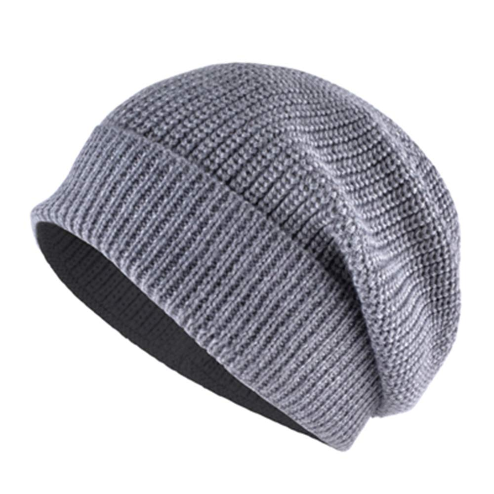 MJ-Young Womens Hat Knitted Wool Skull Cap Men Beanies Unisex Solid Hat for Women Balaclava Cap