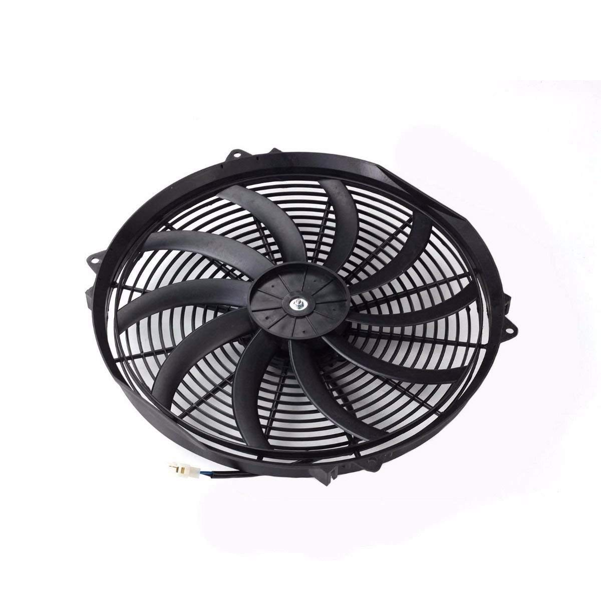Blackhorse Racing 16 Inch Electric Radiator Fan High 3000 Cfm Relay Switch For Thermostat Wiring