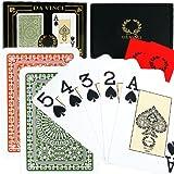 Da Vinci Club Casino, Italian 100% Plastic Playing Cards, 2-Deck Set Poker Size Jumbo Index, with Hard Shell Case & 2 Cut Cards