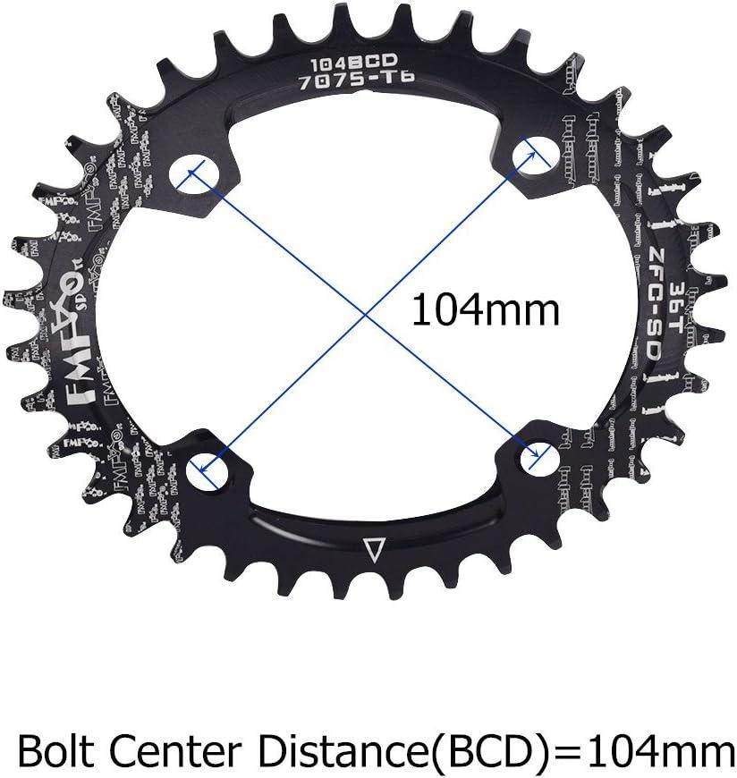 UPANBIKE Bicicleta Estrecha Forma Ovalada Grande Eje de pedalier BCD 104 mm 32T 34T 36T