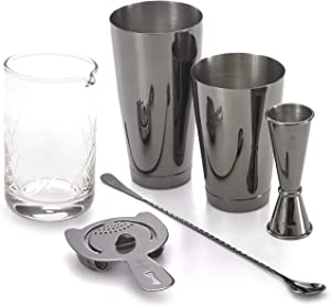 Barfly Essential Deluxe Mixing Cocktail Kit, Black, Model Number: M37131BK