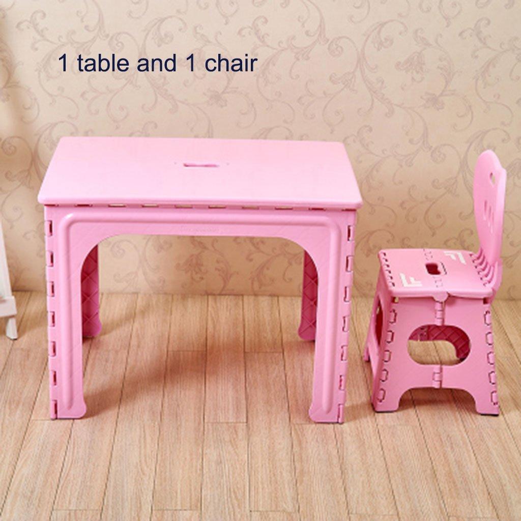 Cassiel Y Faltbarer Kindertisch aus Kunststoff 3 Farben - 3 Kombinationen zur Auswahl (Farbe :  6)